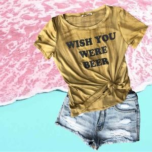 GRAPHIC TEE 'WISH YOU WERE BEER'